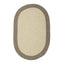 Colonial Mills Hudson Light Gray 2'x4' Oval Rug