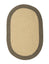 Colonial Mills Braided Hudson Beige 2'x12' Reversible Oval Area Rug
