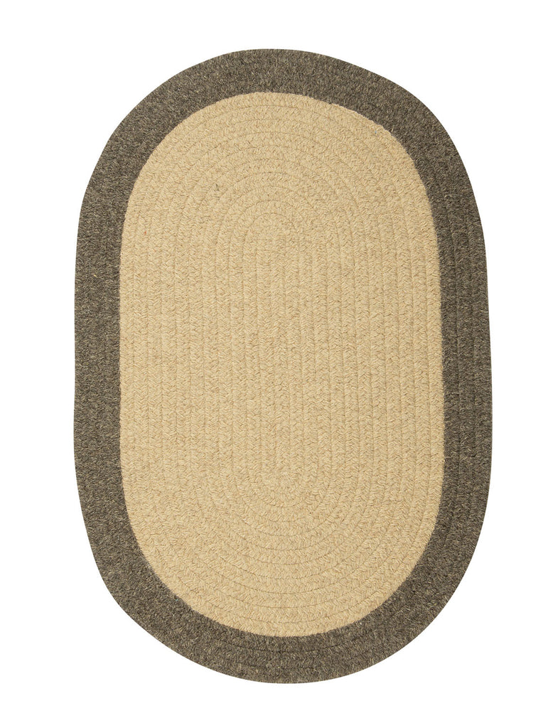 Colonial Mills Braided Hudson Beige 3'x5' Reversible Oval Area Rug