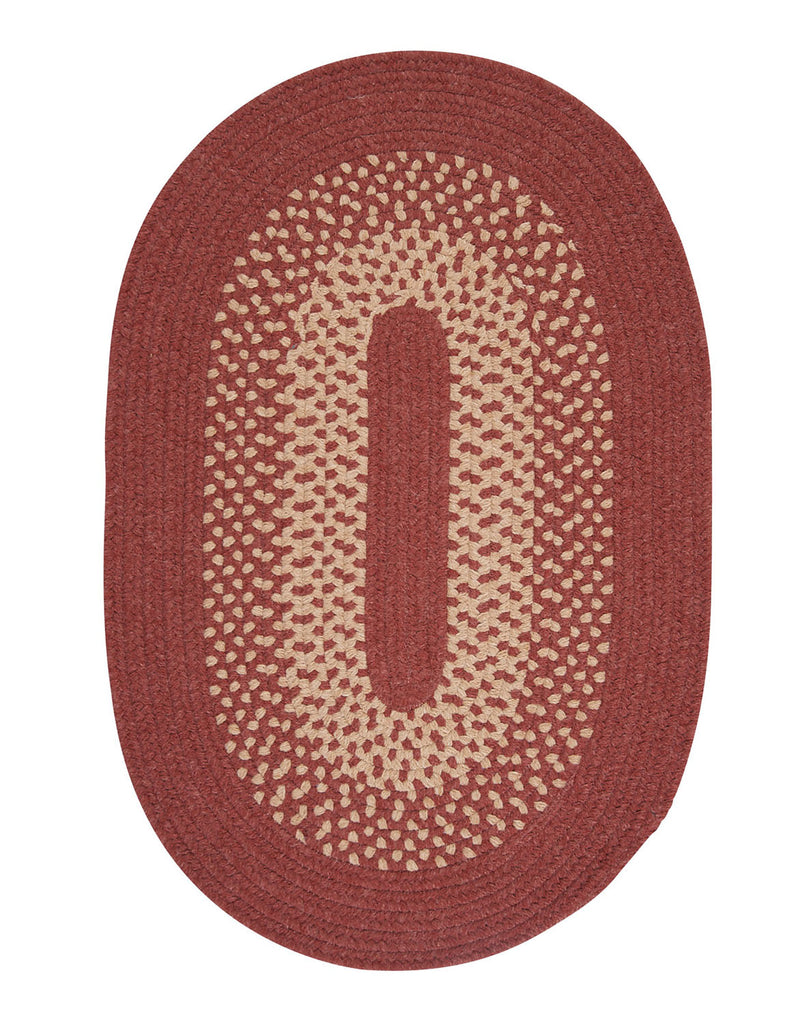 Colonial Mills Jackson - Rosewood 10'x13' Oval Area Rug