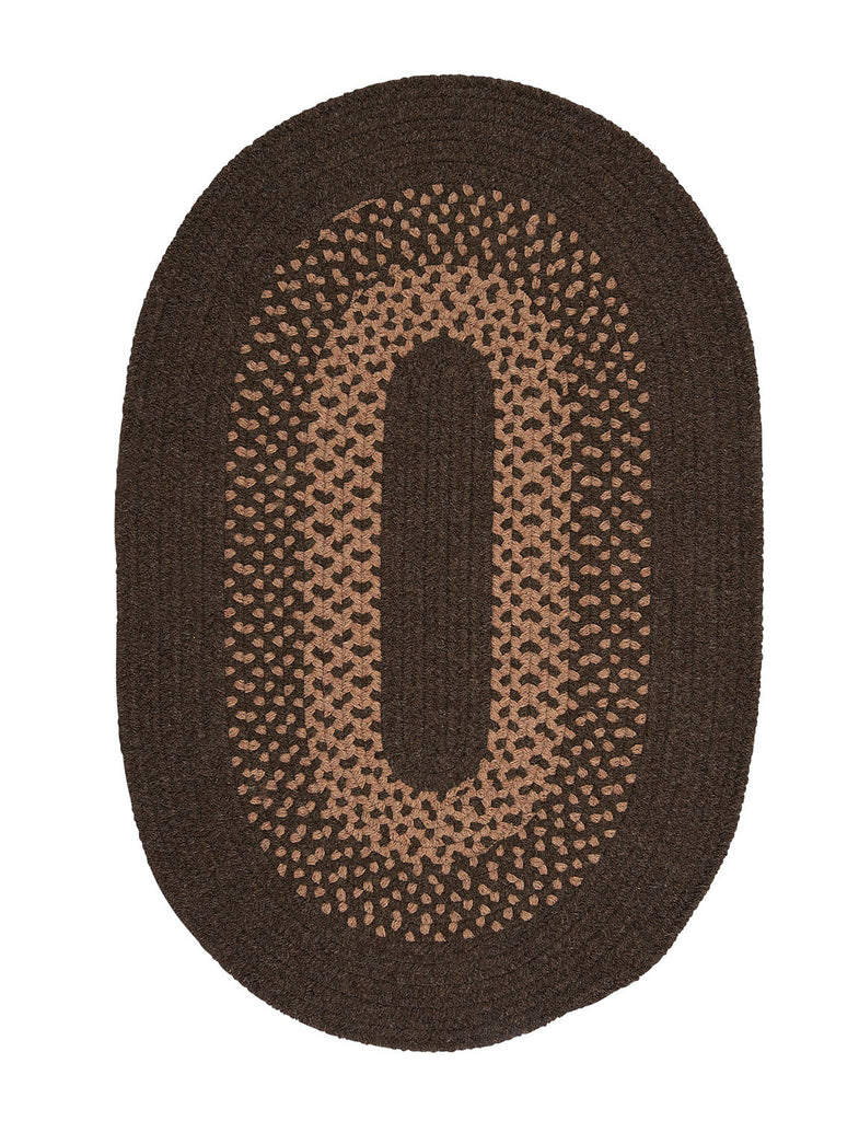 Colonial Mills Floor Decorative Madison Roasted Brown Oval Rug Area -2'x6'