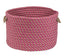 "Colonial Mills Home Decorative Cabana Basket - Magenta 13""x13""x9"" Storage Basket"