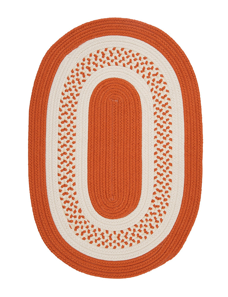 Colonial Mills Home Decorative Crescent Oval Rug Orange - 2'x8'