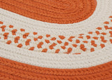 Colonial Mills Home Decorative Crescent Oval Rug Orange - 5'x8'