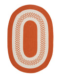 Colonial Mills Home Decorative Crescent Oval Rug Orange - 12'x15'