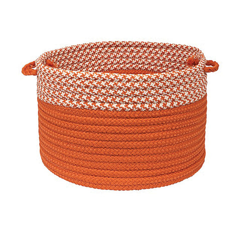 "Colonial Mills Houndstooth Dipped Basket Orange 14""x10"""