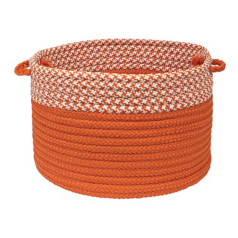 "Colonial Mills Houndstooth Dipped Basket Orange 18""x12"""