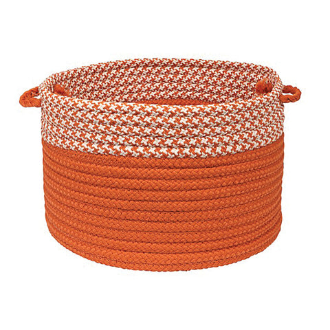 "Colonial Mills Houndstooth Dipped Basket Orange 24""x14"""