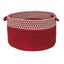 "Colonial Mills Houndstooth Dipped Basket Red 14""x10"""