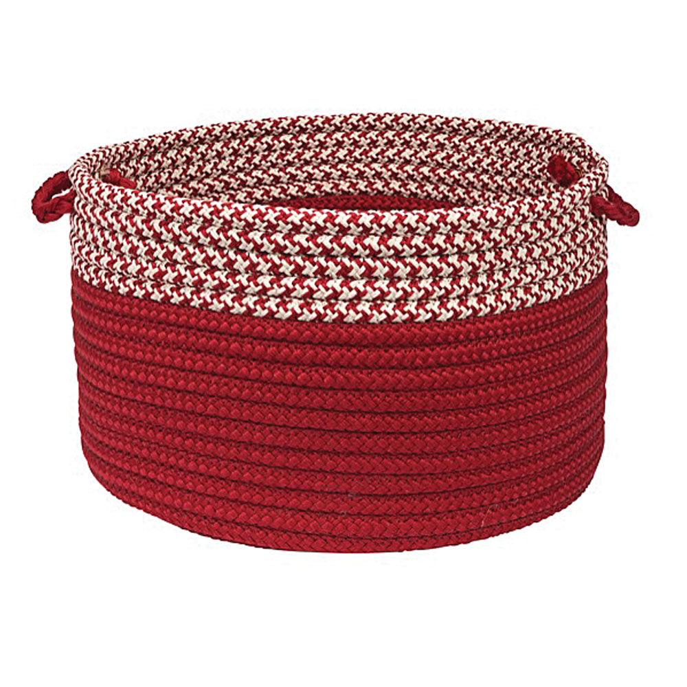 "Colonial Mills Houndstooth Dipped Basket Red 18""x12"""