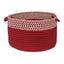 "Colonial Mills Houndstooth Dipped Basket Red 24""x14"""