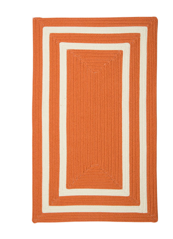 Colonial Mills Floor Decorative Braided La Playa Tangerine Area Rug Rectangle - 2'x10'