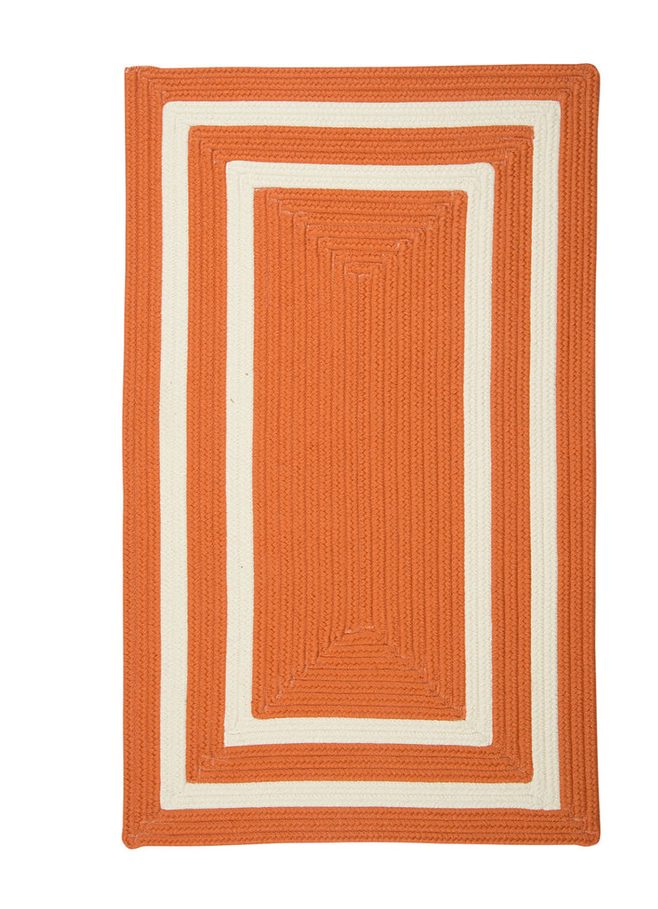 Colonial Mills Floor Decorative Braided La Playa Tangerine Area Rug Rectangle - 7'x9'