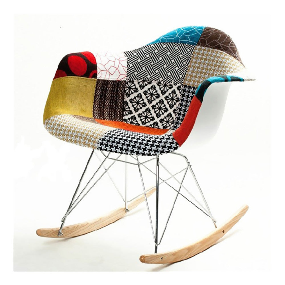 FINE MOD IMPORTS PATTERNED ROCKER ARM CHAIR
