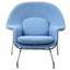 FINE MOD IMPORTS WOOM CHAIR AND OTTOMAN BLUE
