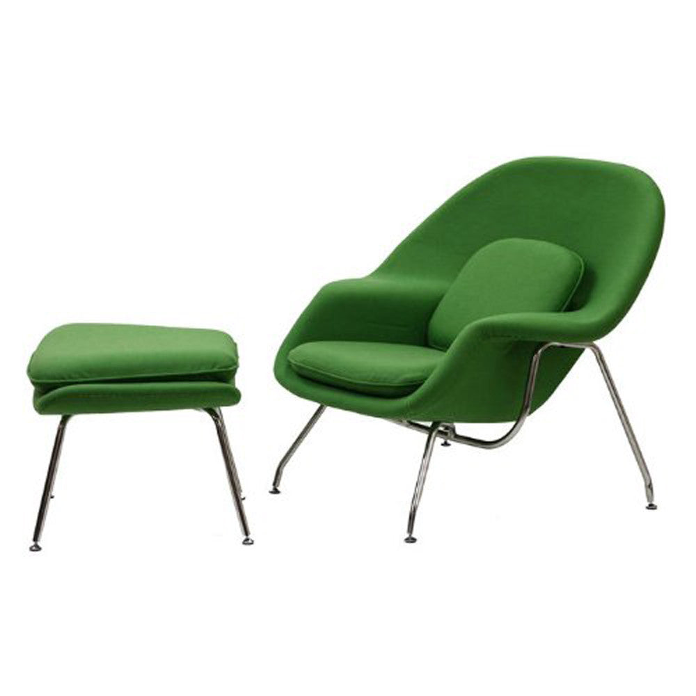 FINE MOD IMPORTS WOOM CHAIR AND OTTOMAN GREEN