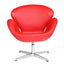 FINE MOD IMPORTS SWAN CHAIR LEATHER RED