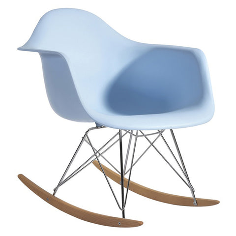 FINE MOD IMPORTS ROCKER ARM CHAIR LIGHT BLUE