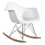 FINE MOD IMPORTS ROCKER ARM CHAIR WHITE