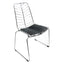 FINE MOD IMPORTS WIRE LEAF CHAIR BLACK