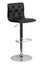 CONTEMPORARY ADJUSTABLE HEIGHT TUFTED BLACK VINYL BAR STOOL WITH CHROME BASE