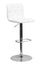 CONTEMPORARY ADJUSTABLE HEIGHT TUFTED WHITE VINYL BAR STOOL WITH CHROME BASE