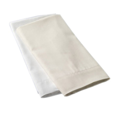 Luxe Collection 618ct Combed Cotton Sateen Weave Pillowcases Standard Ivory
