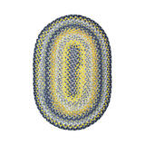COTTON BRAIDED RUG OVAL SUNFLOWERS 4' x 6'
