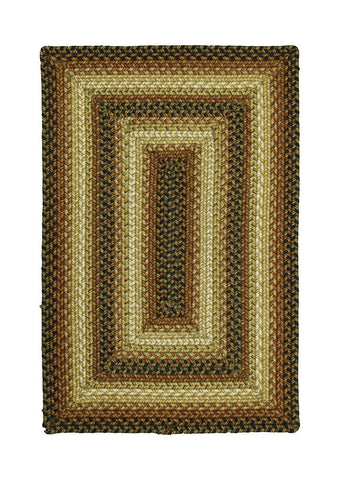 "2'6"" X 6' Homespice Decor San Antonio Ultra Wool Braided Rug Rectangle"