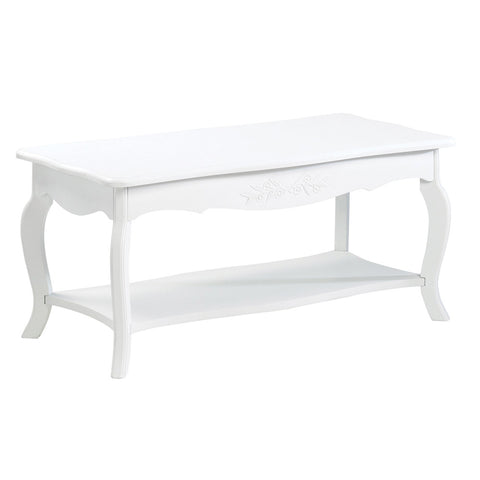 KOEHLER HOME DECOR WHITE COFFEE TABLE