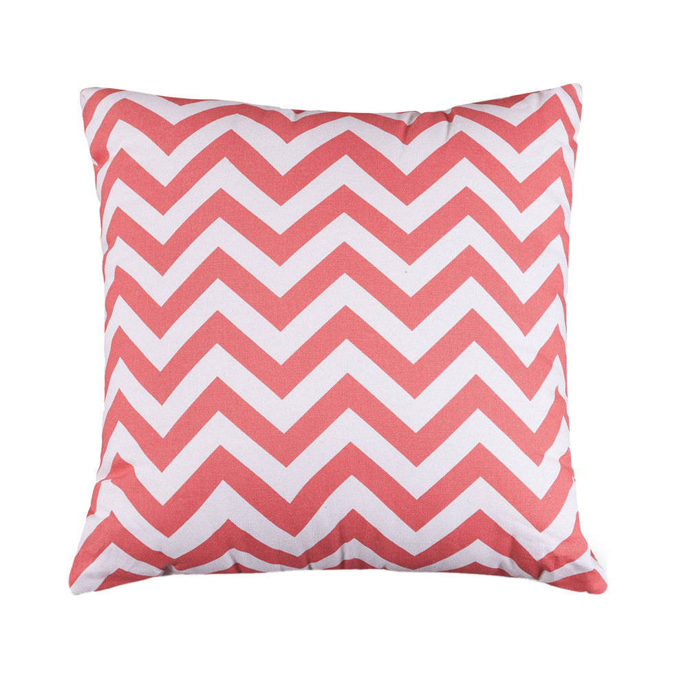 Majestic Home Goods Coral Chevron Extra Large Pillow