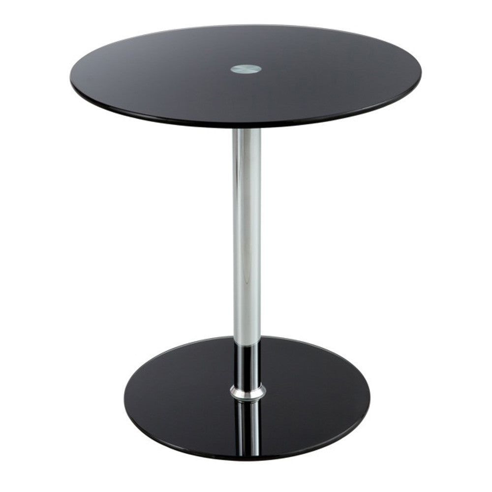 GLASS ACCENT TABLE BLACK