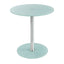 GLASS ACCENT TABLE WHITE