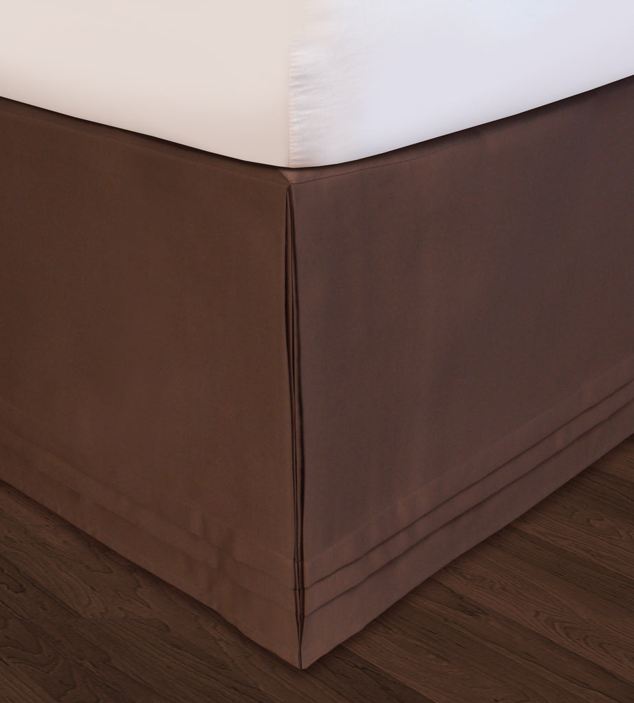 Huys-Matte Satin Huys Bed Ruffle C.King Chocolate