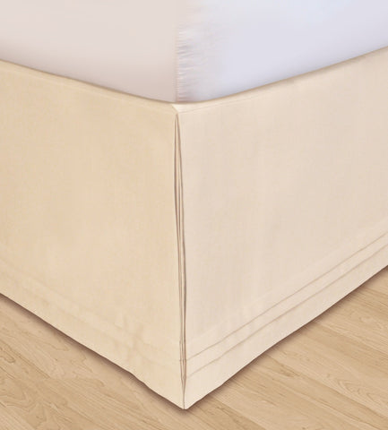 Huys Matte Satin Bed Skirt - D King Ivory
