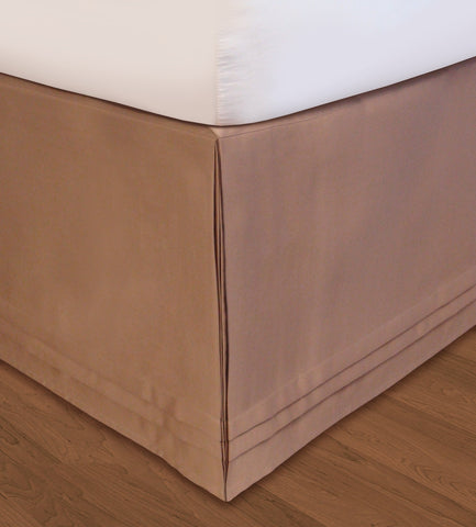 Huys Matte Satin Bed Skirt - D King Taupe