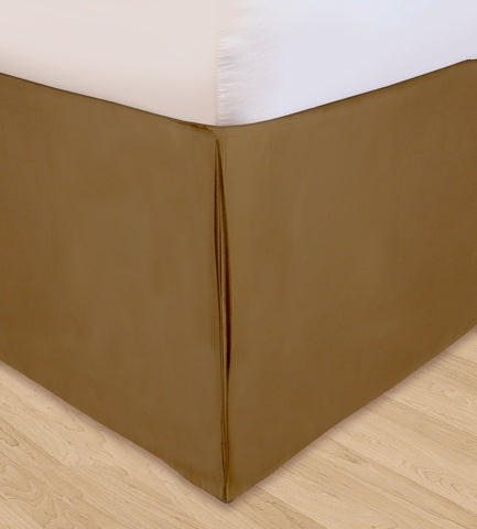 Huys Solid Microfiber Bed Skirt - C King Taupe