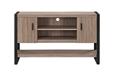 "WE Furniture 60"""" Wood Console Table Buffet TV Stand - Driftwood"