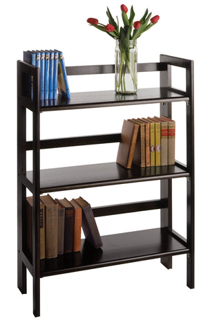 Wide Terry Folding Bookcase Black
