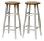 "Tabby 2-Pc 30"" Bar Stool Set Natural & White"