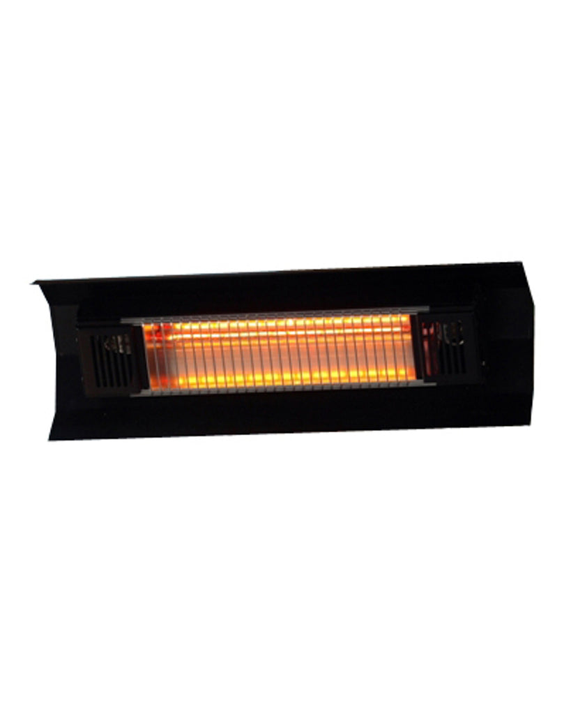 1500 Watt Black Steel Wall Mounted Infrared Patio Heater
