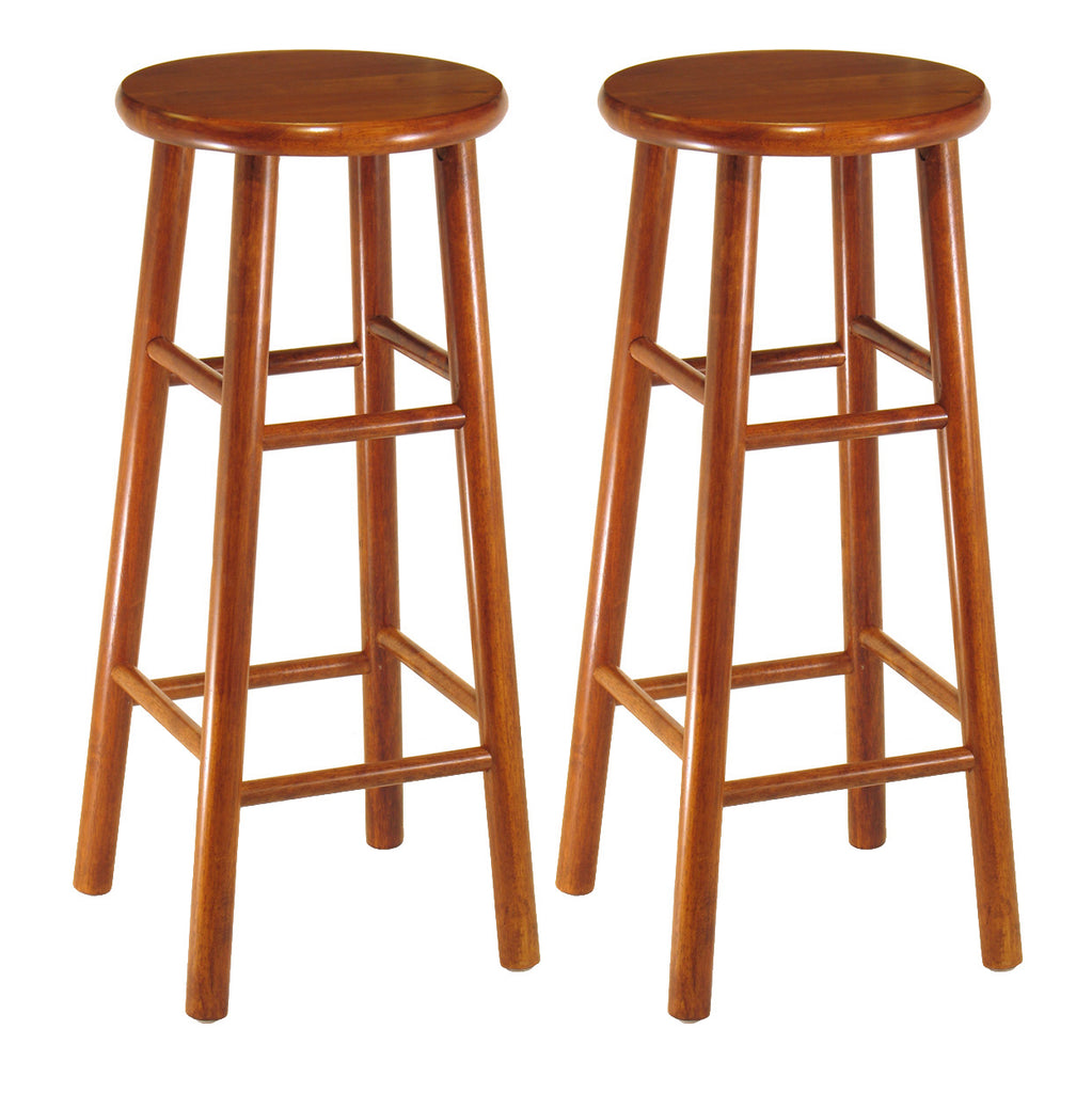 "Tabby 2-Pc 30"" Bar Stool Set Cherry"