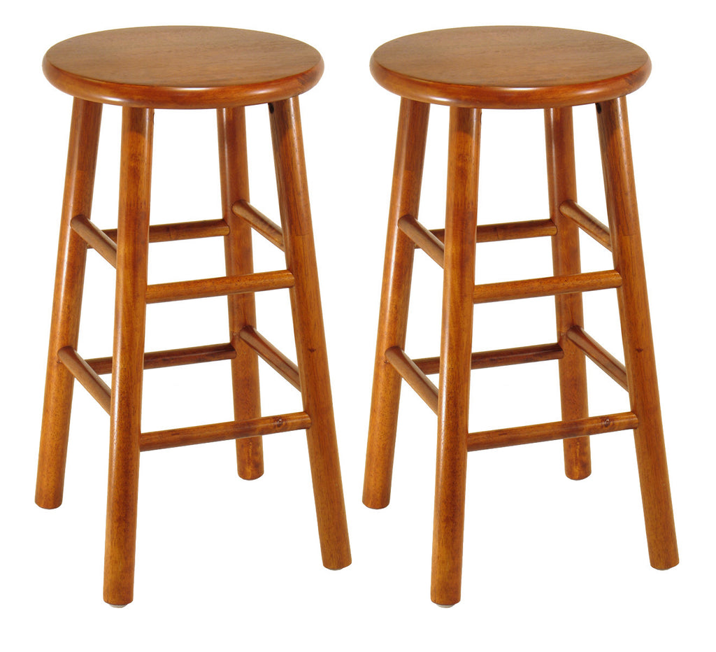 "Tabby 2-Pc 24"" Bar Stool Set Cherry"