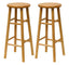 "Tabby 2-Pc 30"" Bar Stool Set Natural"