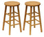 "Tabby 2-Pc 24"" Bar Stool Set Natural"