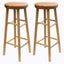 "Oakley 2-Pc 30"" Swivel Seat Bar Stool Set Beech"