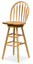 "Wagner 30"" Arrow-Back Windsor Swivel Seat Bar Stool Beech"