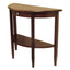 Concord Hall / Console Table,  Half Moon with Drawer, Shelf