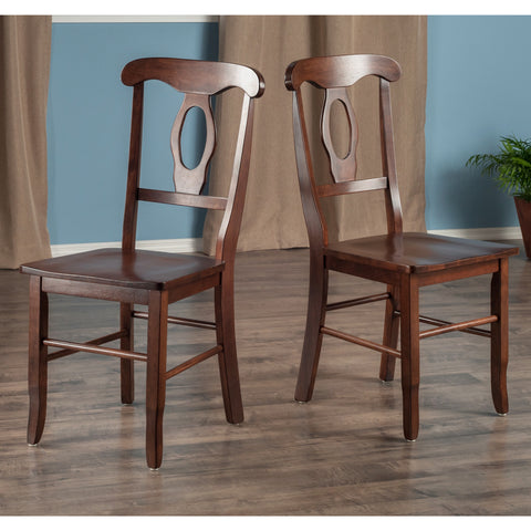 Renaissance 2-Pc Set Key Hole Back Chairs