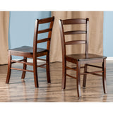 Benjamin 2-PC Ladder Back Chair Set Walnut
